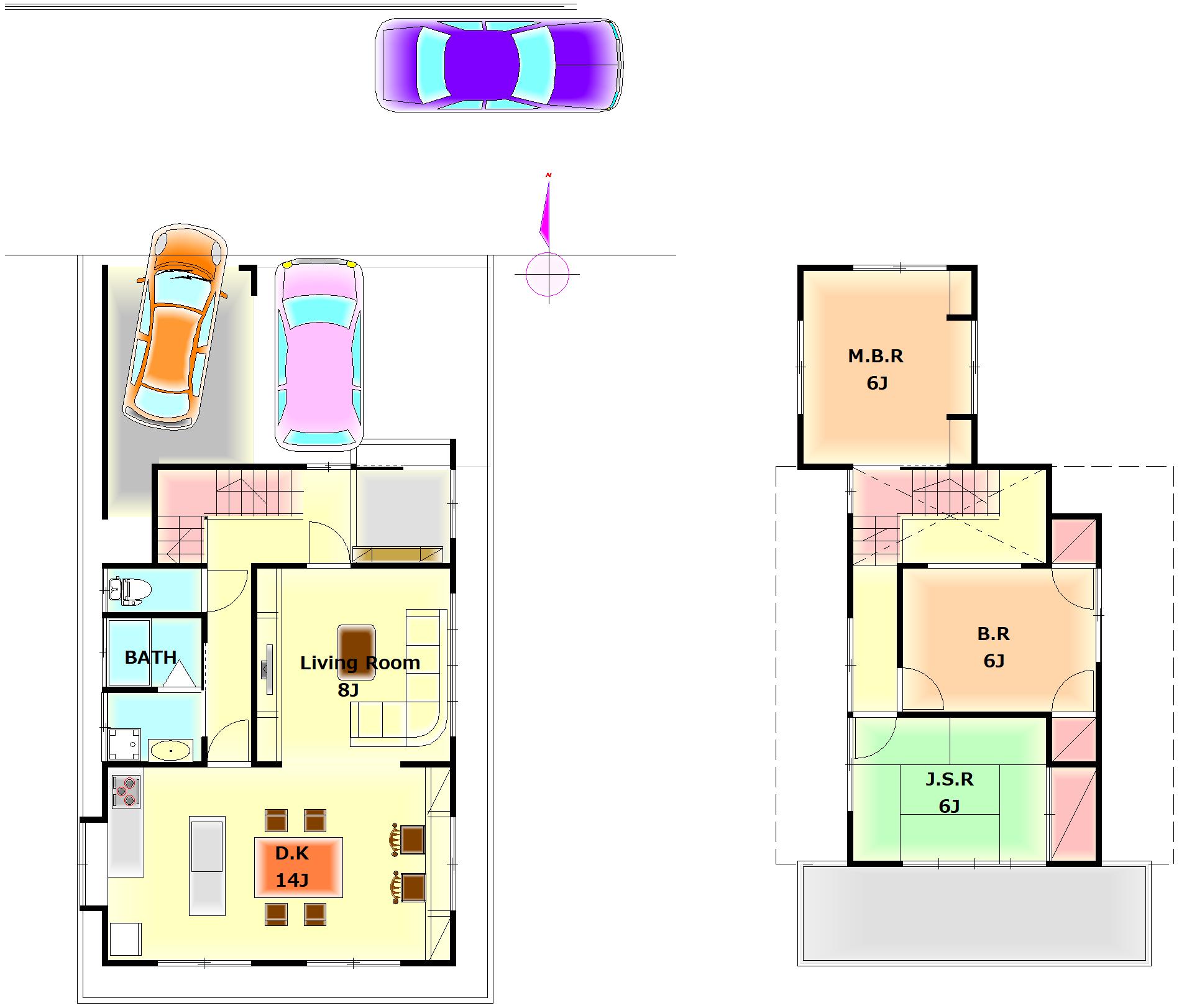 リノベーション施工販売例    ~昭和の中2階の家を大胆に~