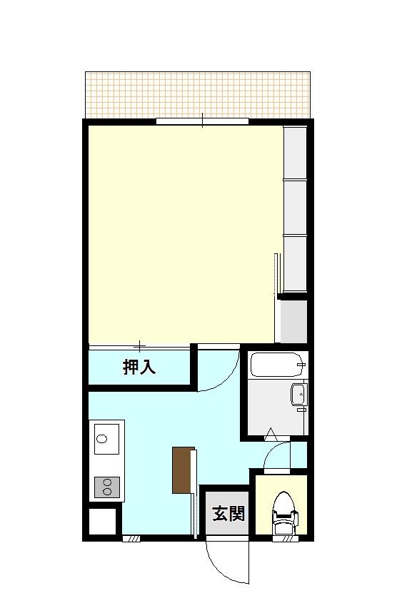 鷹ノ子駅近の賃貸物件~ハイツサブリナ 1階ロフト無しの部屋~