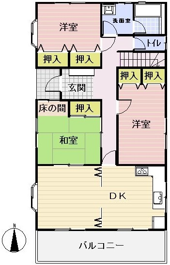 レインボーロードから東へ400m 木太中学校区 自宅兼収益物件